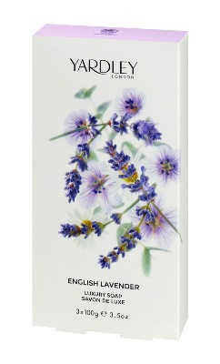 Yardley English Lavender Soap, Box of 3, 100g each  Made in the UK