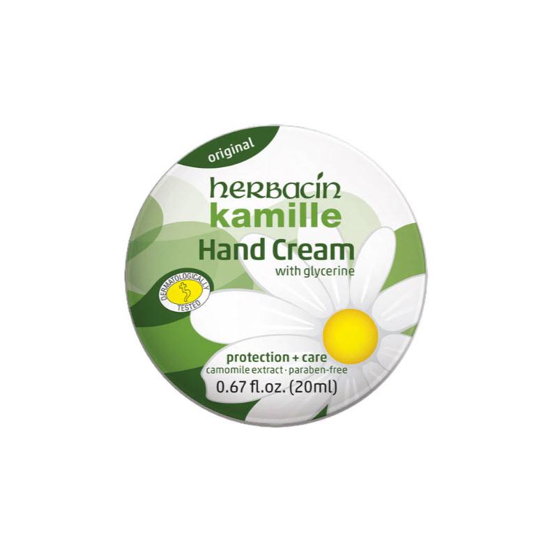 Herbacin Kamille Hand Cream in the tin 20ml