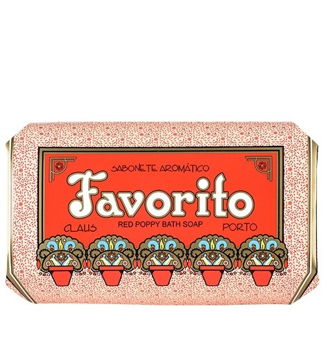 Claus Porto Red Poppy 'Favorito' Soap 350g