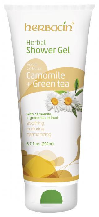 Herbacin Herbal Shower Gel Chamomile and Green Tea  200ml