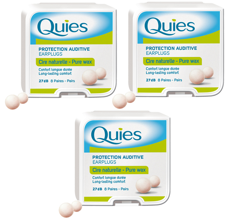 3 Boxes - Quies Wax Ear Plugs from France (3-pack)