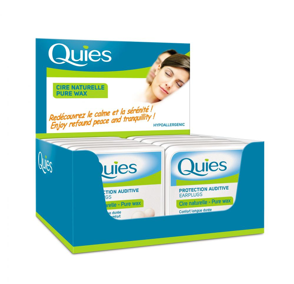 Quies Wax Ear Plugs from France Box of 12 Masterbox