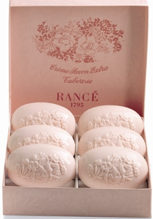 Rance Tuberose Soap, Box of Six  100gr