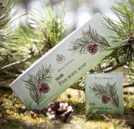 Royal Swedish Tallba Pine Glycerin Body Soap, Box of 3, 100gr each, by Victoria Scandinavian Soap Company - small image