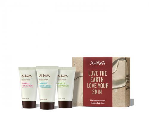 Ahava Naturally Refreshing Trio - Hand Cream, Body Lotion, Shower Gel 40ml each